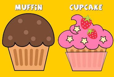 La diferencia entre muffin y cupcake