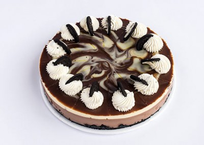 Cheesecake de Oreo Veteado
