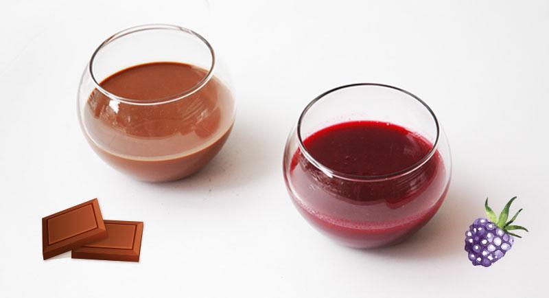Las salsas de chocolate y mora de Sweets