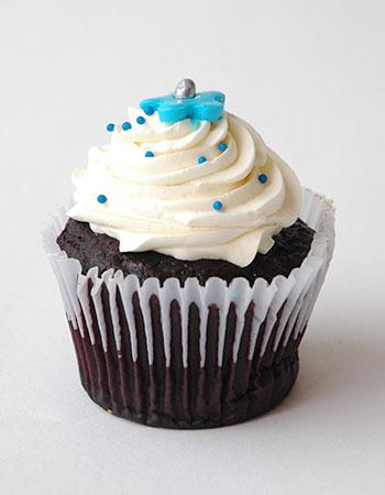 Muffin Crema azul Pastelería Sweets de Quito