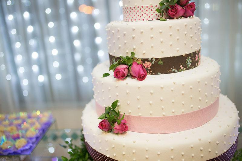 un ejemplos de pastel de matrimonio en Quito