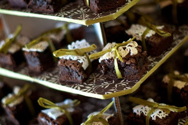 pastel matrimonio original-brownies en Quito
