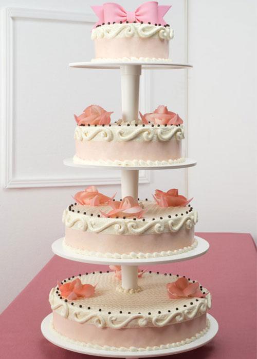 torta primera comunion lazo rosado pastelería Sweets
