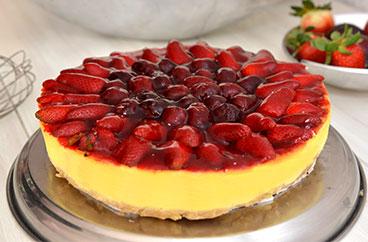 El Cheesecake de Frutos Rojos Horneado de Sweets